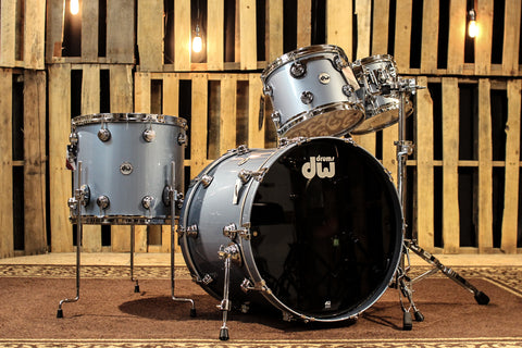 DW Collector's Series Maple Mahogany Drum Set, Blue Mist Metallic- SO# 1105550