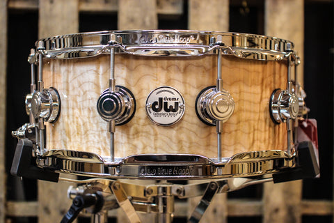 DW Collector's Maple Natural Lacquer Over Quilted Maple 5.5x14 - SO# 1101179