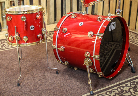 DW Collector's Maple Matador Red Drum Set - 22,10,12,14 - SO#879548