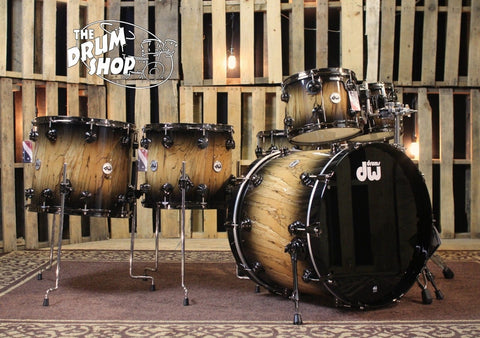 Collector's Natural to Quick Candy Black Burst over European Spalted Beech with Black Nickel Hard