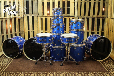 DW Drums Performance Maple Blue Sparkle SHELL BANK CHOOSE YOUR SIZES