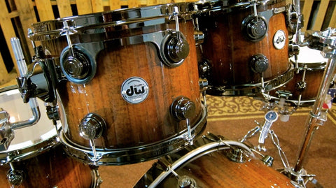 Collector's Exotic Natural to Quick Candy Black Burst Over Tiger Wood w/ Black Nickel Hardware