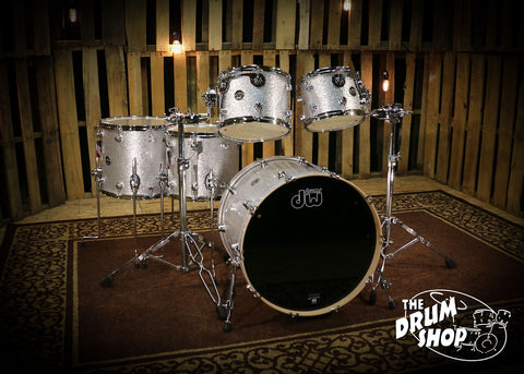 dw drums performance maple series silver sparkle shell. Black Bedroom Furniture Sets. Home Design Ideas