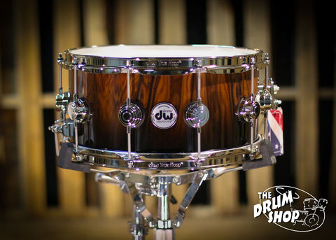 6.5x14 Collector's Santos Rosewood w/ Nickel Hardware Natrual to Black Fade