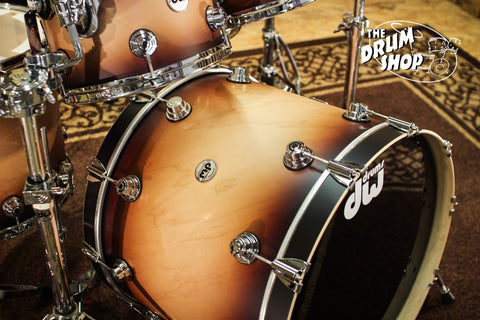 Collector's Drum Set Natural to Tobacco Burst w/ Chrome Hardware