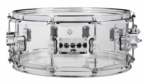 PDP Chad Smith Signature Snare Drum Clear Acrylic 6x14