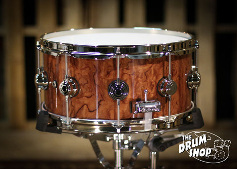 Collectors Exotic Snare Waterfall Bubinga 6.5x14 so# 1035646
