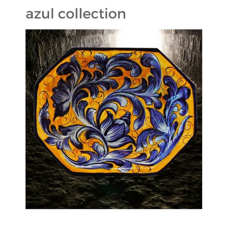 Sunshine on your Table:  Azul Mayolica Talavera Servingware