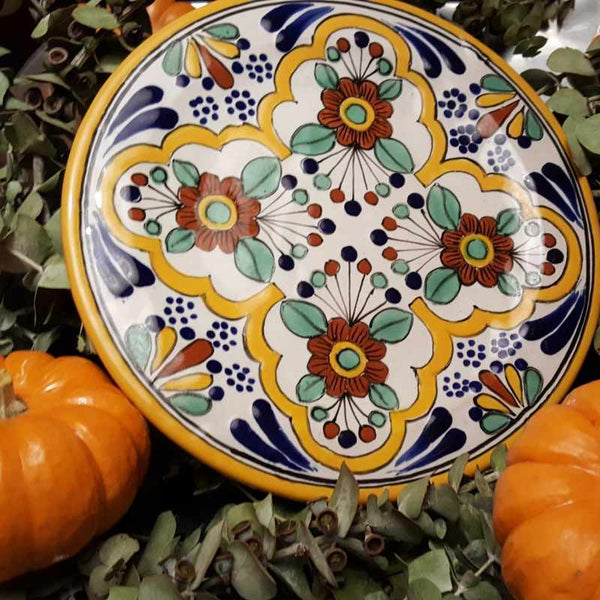 Fall Seasonal Tableware Fresh from the Talavera Pottery Pumpkin Patch