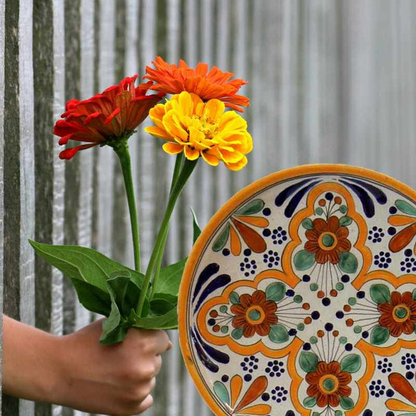 Spring Sunshine and Talavera Pottery is a Perfect Pairing