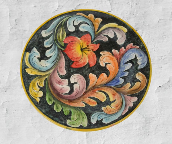 Rustica Gift & Pottery Talavera & Majolica Mexican Pottery:  Flores Collection Large Platter