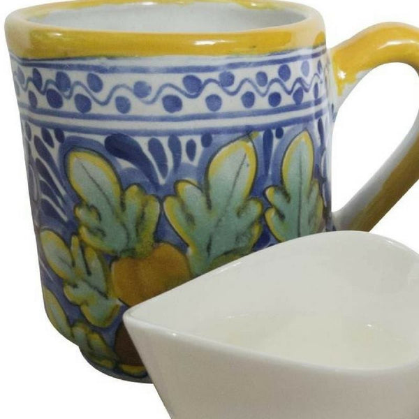 Rustica Gift & Talavera Pottery Coffee Mug Naranja Collection Five Stars