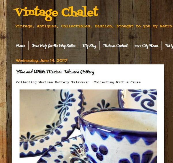Feature News:   Rustica Gift & Pottery Spotlighted in Vintage Chalet