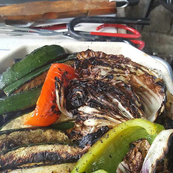 Garden Party Grilling:  The Hungry Gardener Grills Summer Veggies