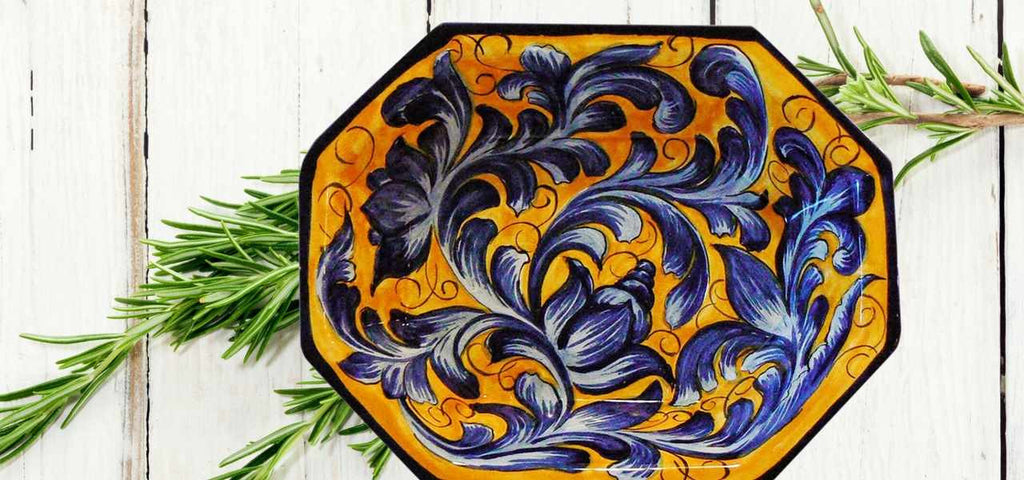 Rustica Gift & Pottery Azul Majolica Mexican Pottery Collection