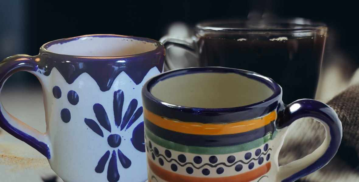 ustica Gift & Pottery Coffee mugs and tea cups authentic Talavera pottery and Majolica from Mexico