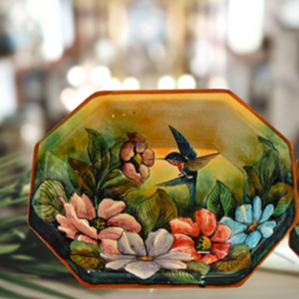 Rustica Gift & Pottery Majolica Pottery Colibri Collection Spring is coming