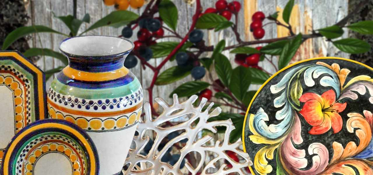 Rustica Gift & Talavera  Pottery Gift Collection Holiday, Special Occasion Collection Pewter, Majolica
