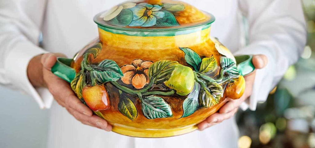 Rustica Gift & Talavera Pottery collection of artisan Majolica Mexican pottery hand painted soup tureens