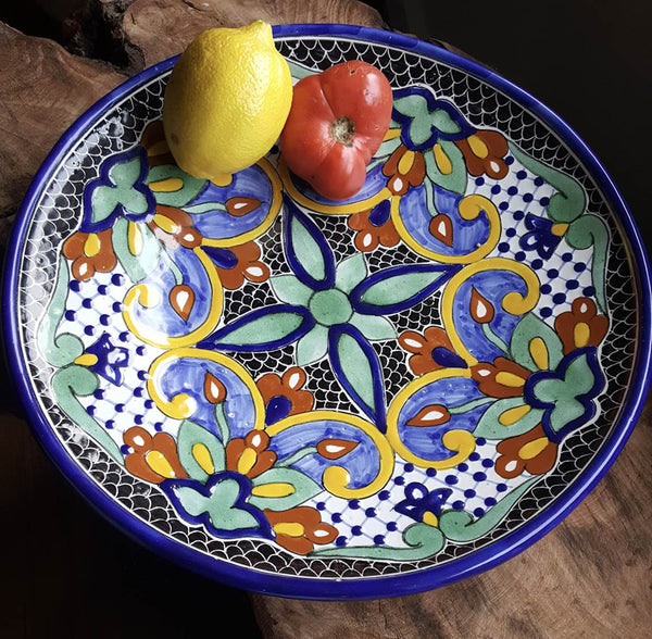 Rustica Gift & Pottery Talavera Mexican Pottery dinnerware plate Mosaico collection