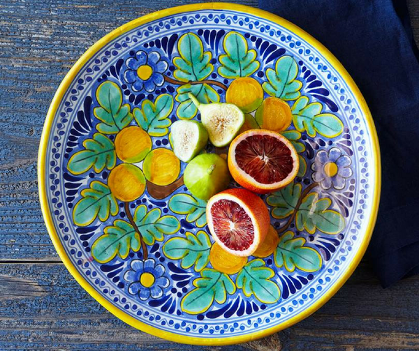 Rustica Talavera Mexican pottery large platter Naranja collection