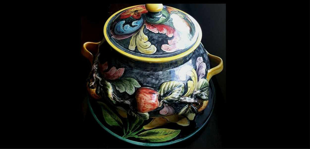 Rustica Gift & Talavera Pottery Flores Collection Majolica Soup Tureen