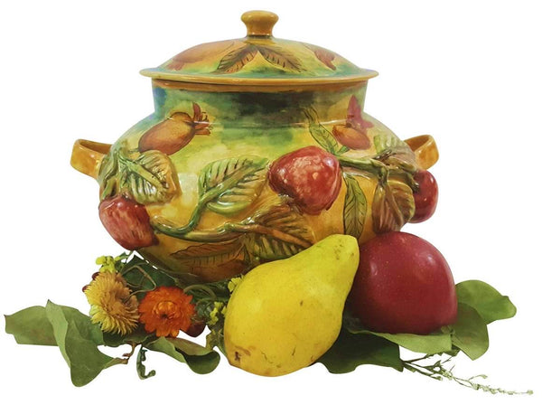 Rustica Gift & Pottery Talavera Mexican Pottery Soup Tureen Tableware. Evokes Italian Pottery
