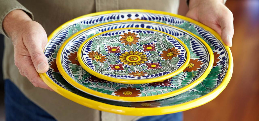 Authentic Mexican Dinnerware, Tableware & Plates Rustica Gift & Talavera Pottery