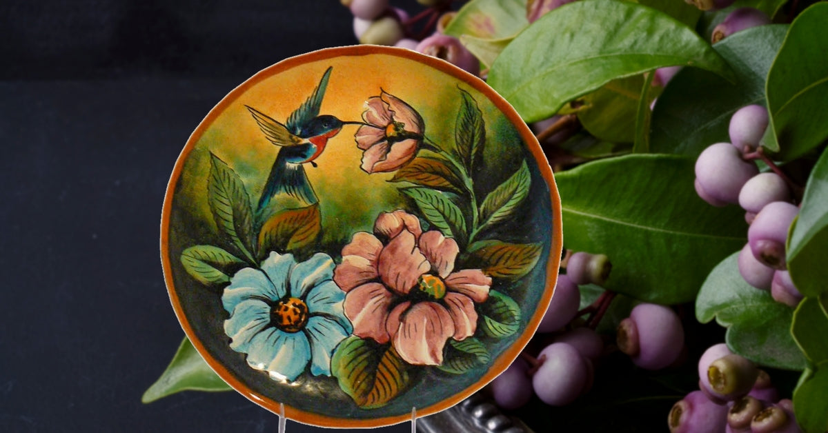 Rustica Gift & Talavera Pottery Hummingbird Collection Colibri Majolica table and dinnerware