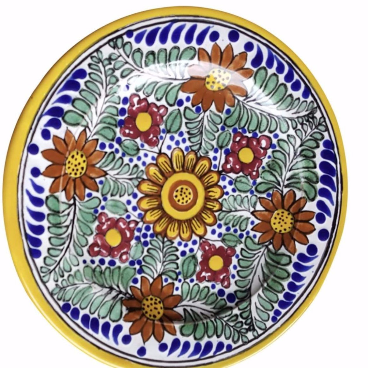... Rustica Gift Amapola Collection Mexican Talavera Pottery Dinner plate evocative of Italian Pottery ...  sc 1 st  Rustica Gift u0026 Talavera Pottery & Amapola Mexican Talavera Pottery Dinner Plate | Rustica Gift