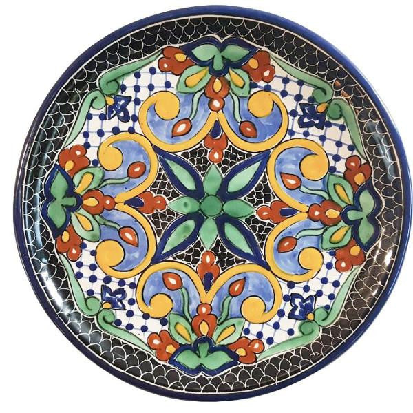 ... Rustica Gift Mosaico Mayolica Mexican Talavera Dinner Plate Italian pottery style ...  sc 1 st  Rustica Gift u0026 Talavera Pottery & Mosaico Mexican Talavera Pottery Dinner Plate | Rustica Gift