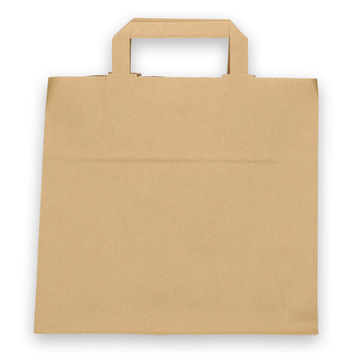 Paper carrier bag 26x17x25 cm 70 brown unprinted