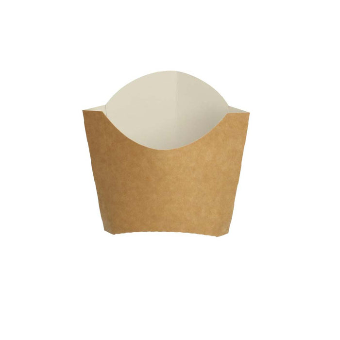 Kraft patatine scoop 8,5x6,8x9,7 cm marrone / bianco piccolo