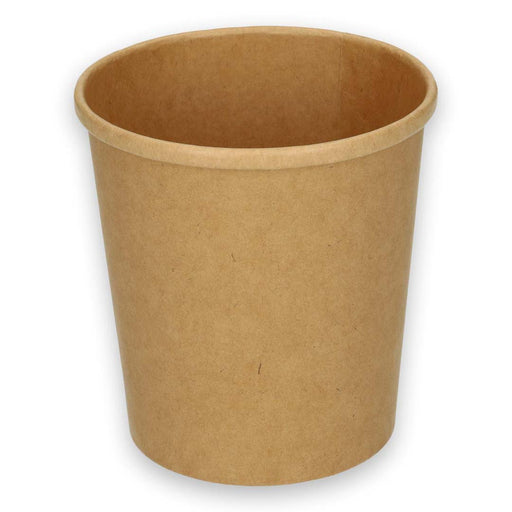 Tazza di cartone Kraft ø 97 mm 450 cc / 16 once marrone