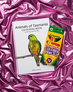 Animals of Tasmania Colouring Book with Pencils