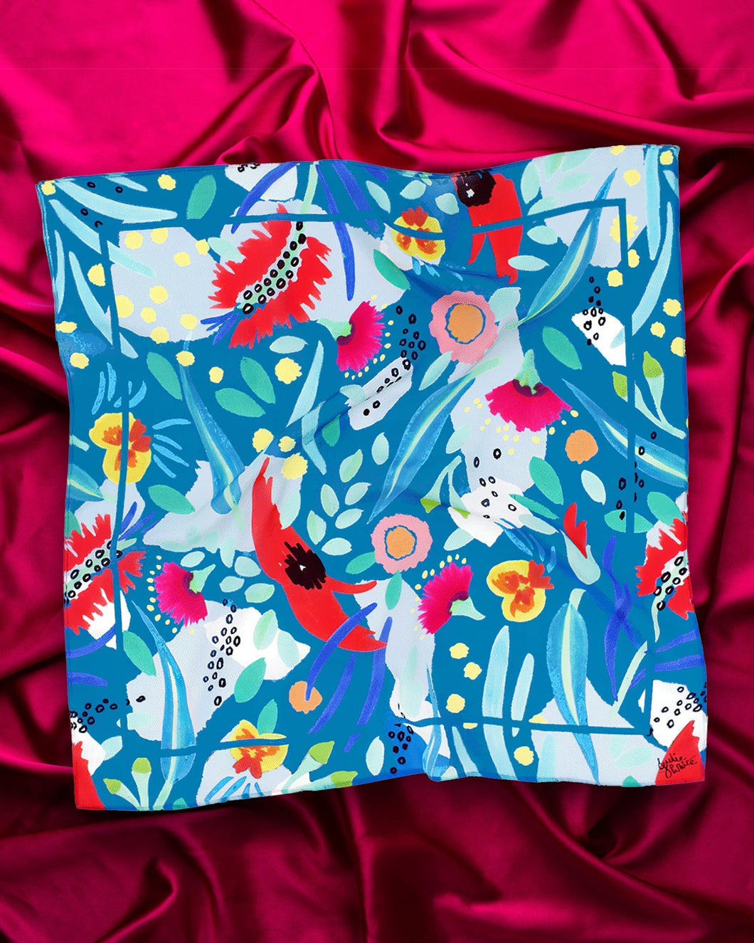 Julie White Small Silk and Cotton Scarf (Various Prints)