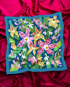 Julie White Silk Square Scarf (Various Prints)