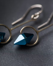 Load image into Gallery viewer, Jon Williamson Blue Simple Spike Earrings