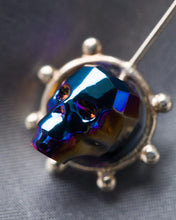 Load image into Gallery viewer, Jon Williamson Holy Mother of God Earrings Blue Skull