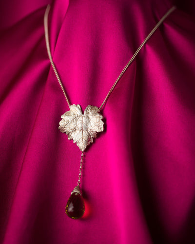 Julia deVille Leaf Amethyst Necklace