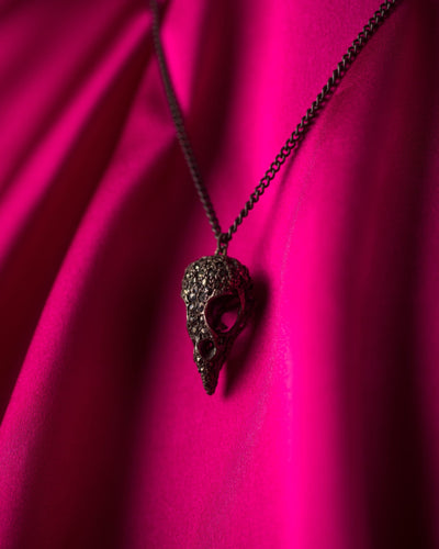 Julia deVille Pave Sparrow Necklace