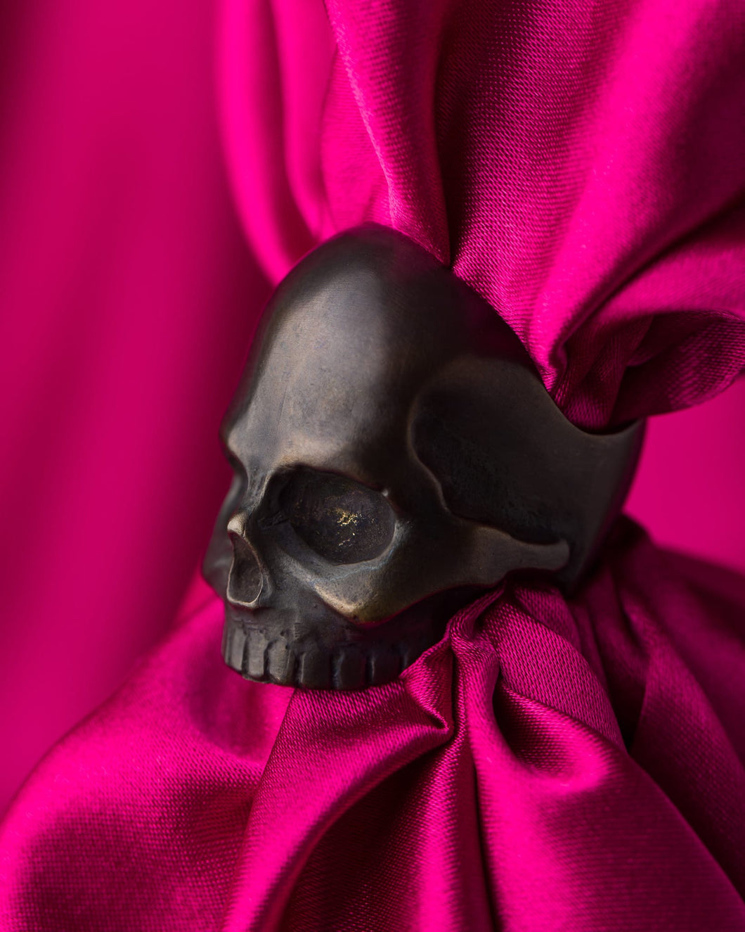 Jon Williamson Blackened Bronze Skull Ring