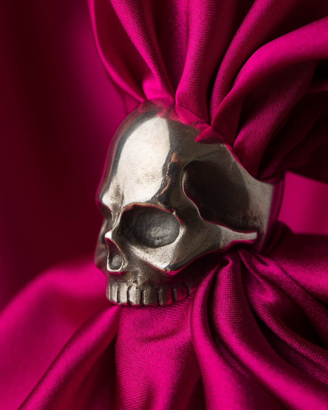 Jon Williamson Sterling Silver Skull Ring