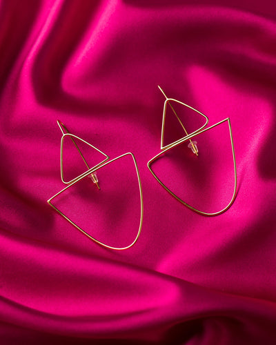 Lisa Furno Shape Earrings Large