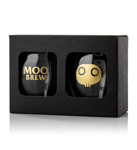 Moo Brew Beer Glasses - Two Pack