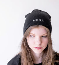 Load image into Gallery viewer, Mona Black Beanie