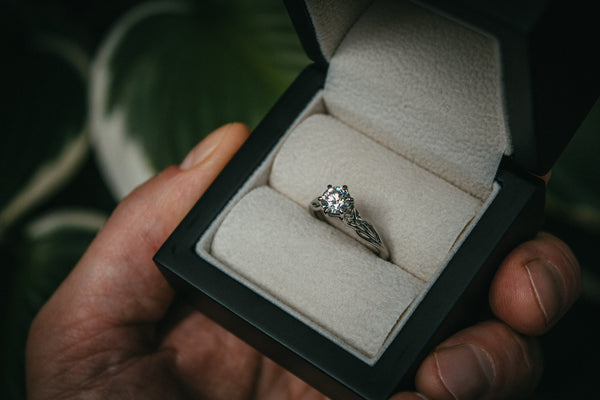 Celtic Inspired Diamond Engagement Ring