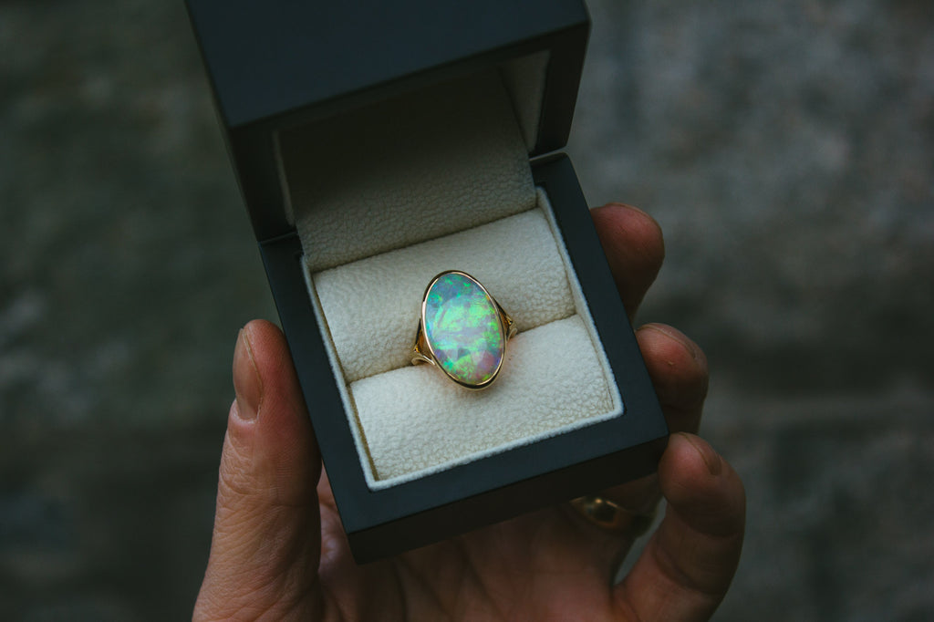 Bespoke Jewellery Commission Australian Opal Ring