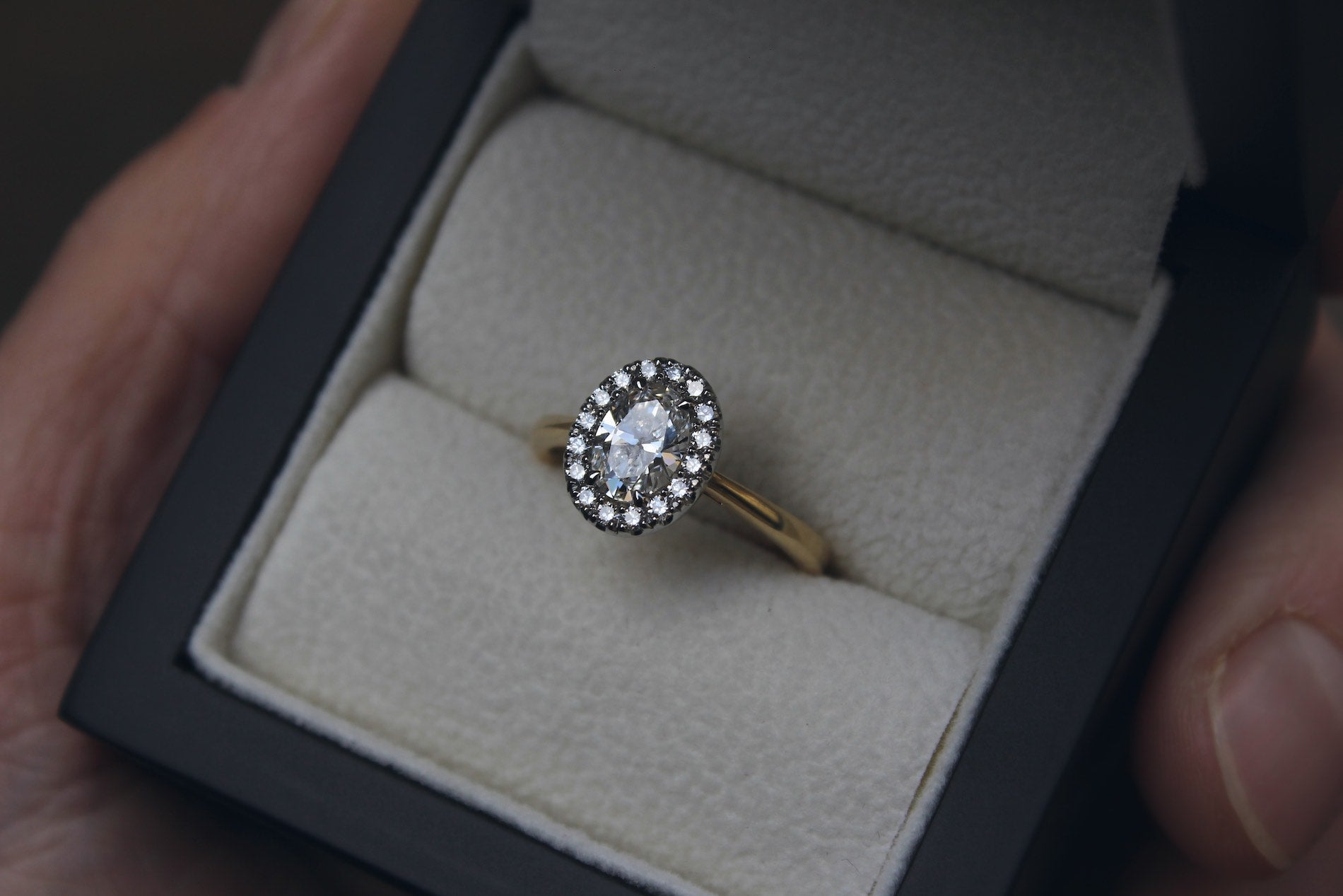 Oval Canadian Diamond Engagement Ring