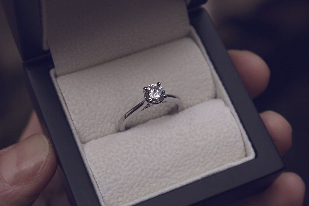 Moira Patience Fine Jewellery Bespoke Commission Handmade Solitaire Diamond Engagement Ring in Edinburgh Scotland